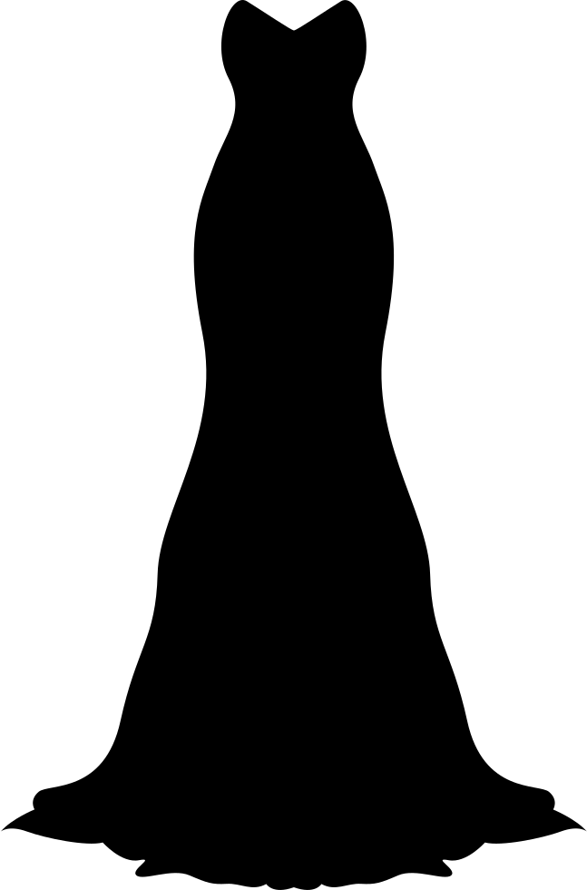 long black gown svg png icon free download 59308