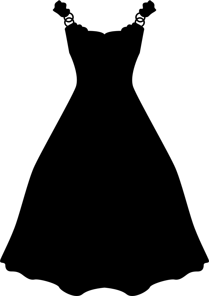 Dress Long And Black Shape Svg Png Icon Free Download