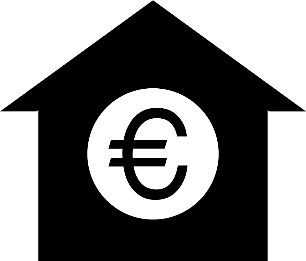 Euro Symbol On House Svg Png Icon Free Download 61396