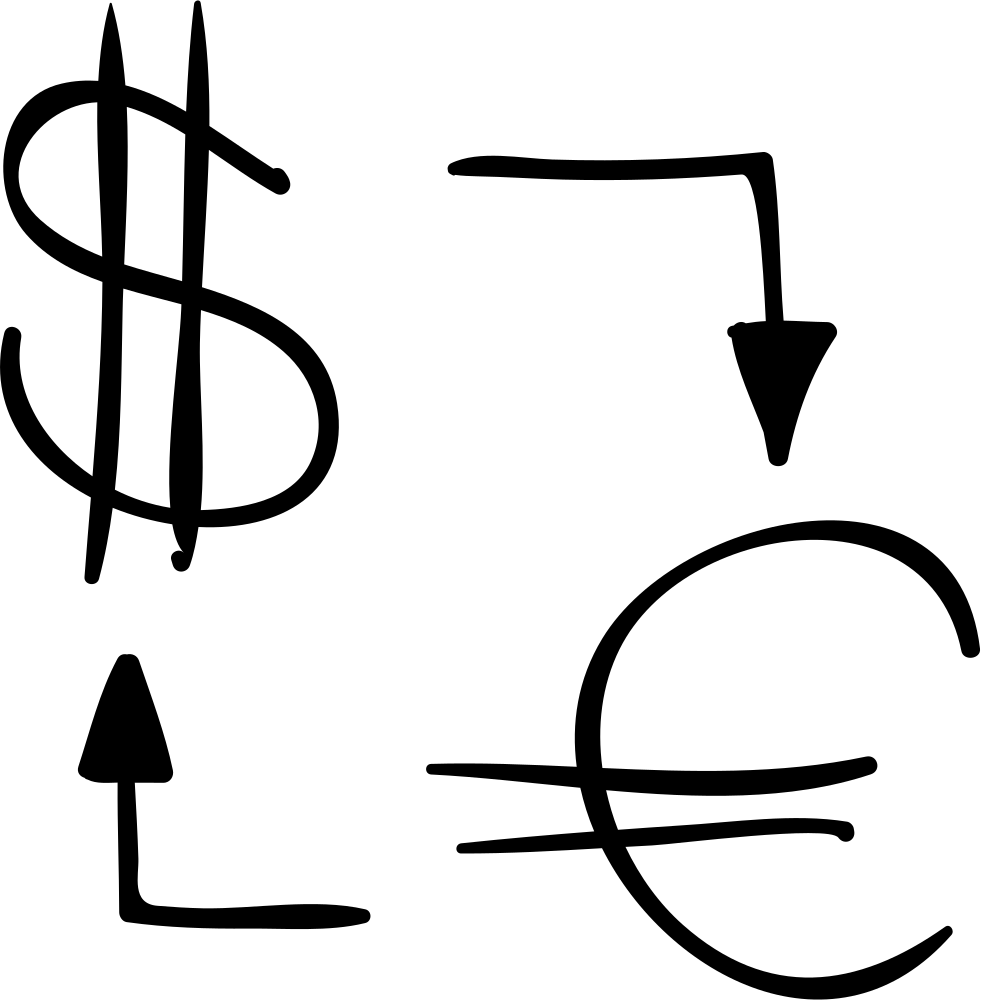 Money Exchange Sketch Between Dollars And Euros Svg Png Icon Free Download 61785 Onlinewebfonts Com