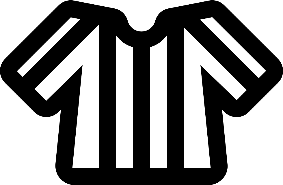 Football Line Referee T-shirt With Stripes Svg Png Icon Free