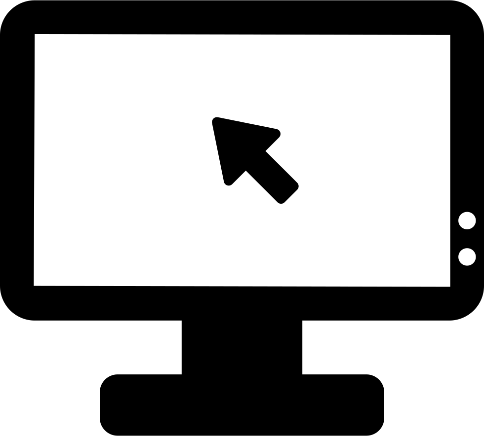 Black Computer Icon Png Computer Screen Svg Pn...