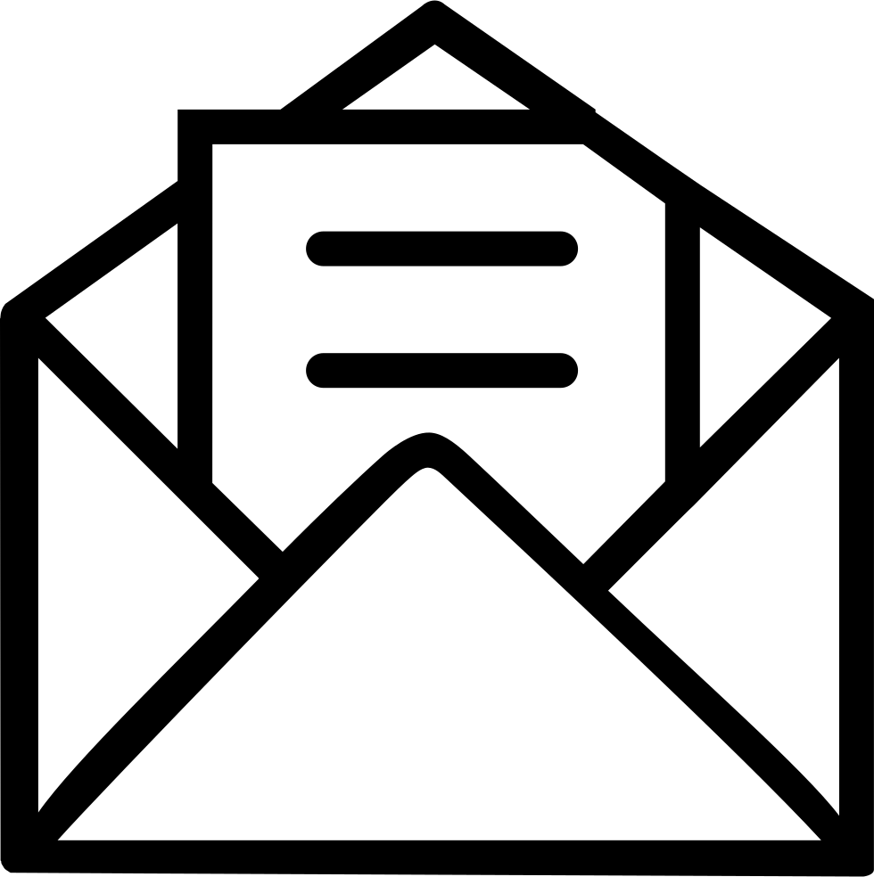 Open Envelope With Letter Svg Png Icon Free Download 64214