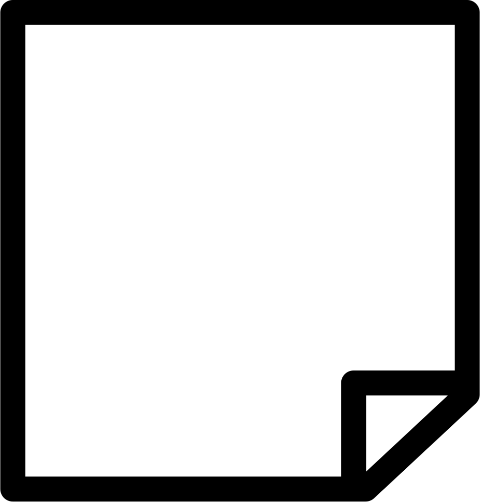 note blank paper with one folded corner svg png icon free download
