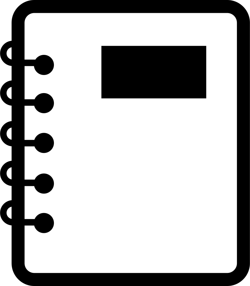 Notebook Of Paper With Spring Svg Png Icon Free Download ...