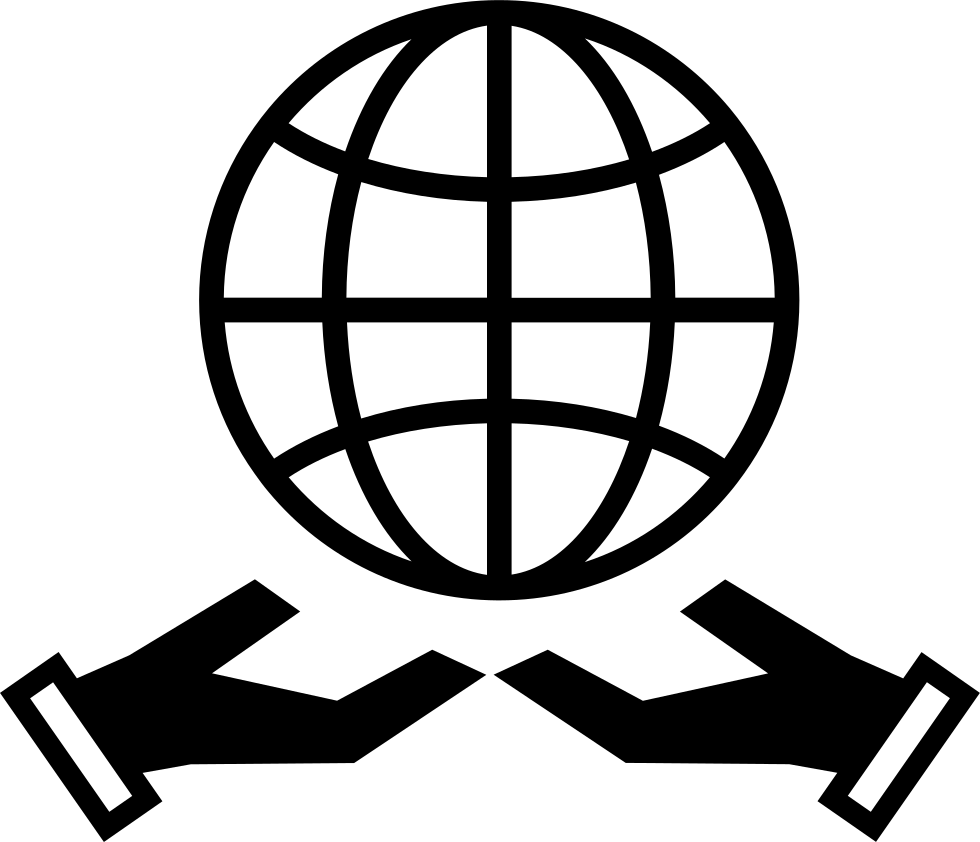 Earth Grid Symbol Over Two Hands Svg Png Icon Free Download 65033