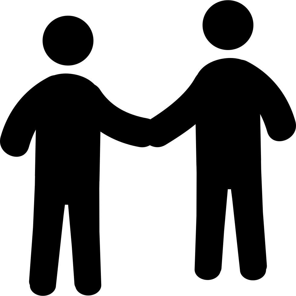 Shaking hands logo png