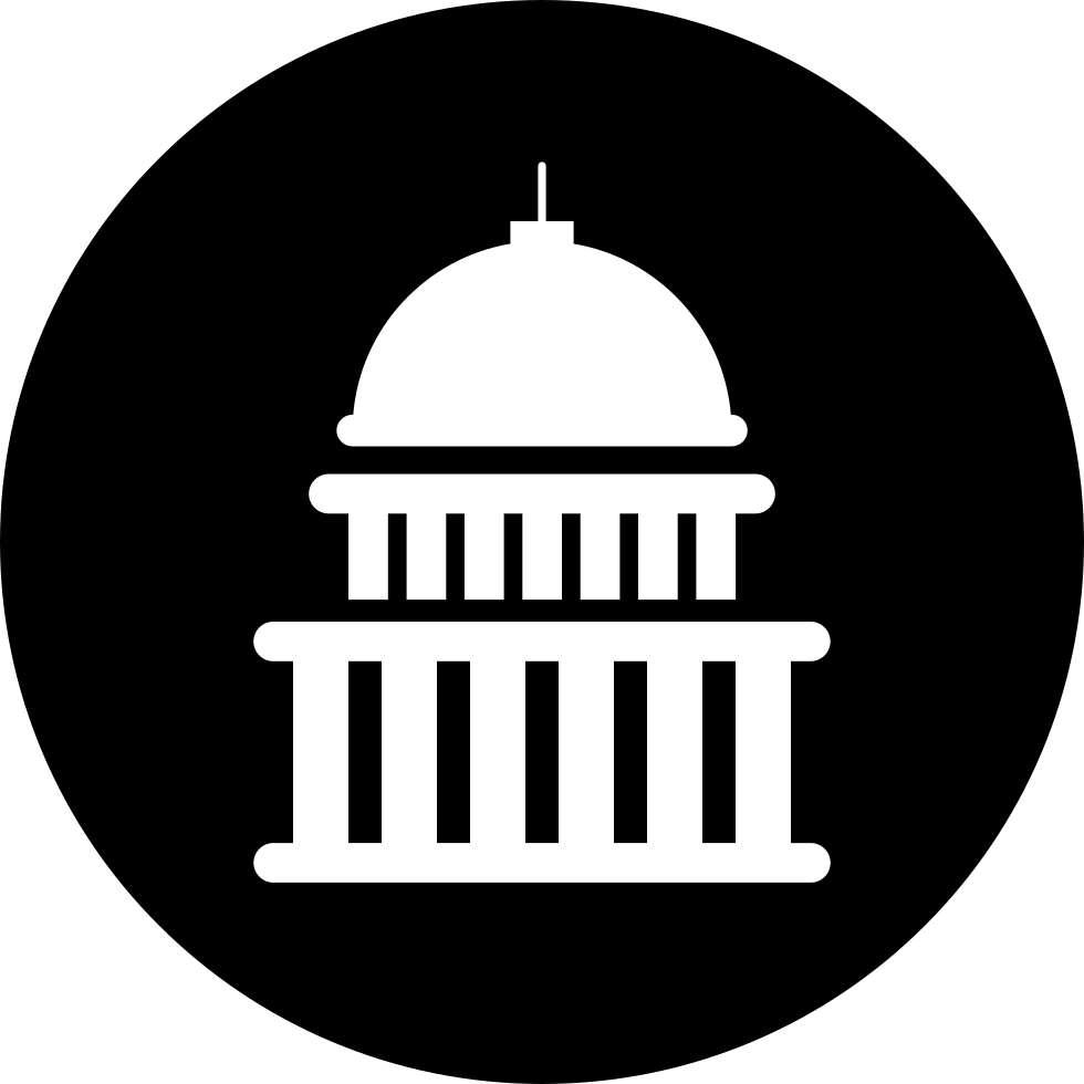 Capitol Building Circular Button Svg Png Icon Free Download