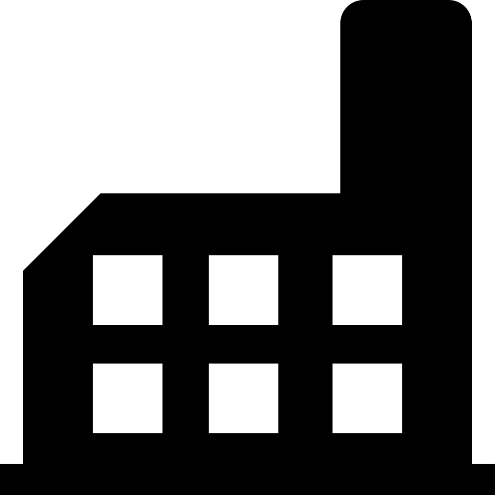 factory building silhouette svg png icon free download (#66812