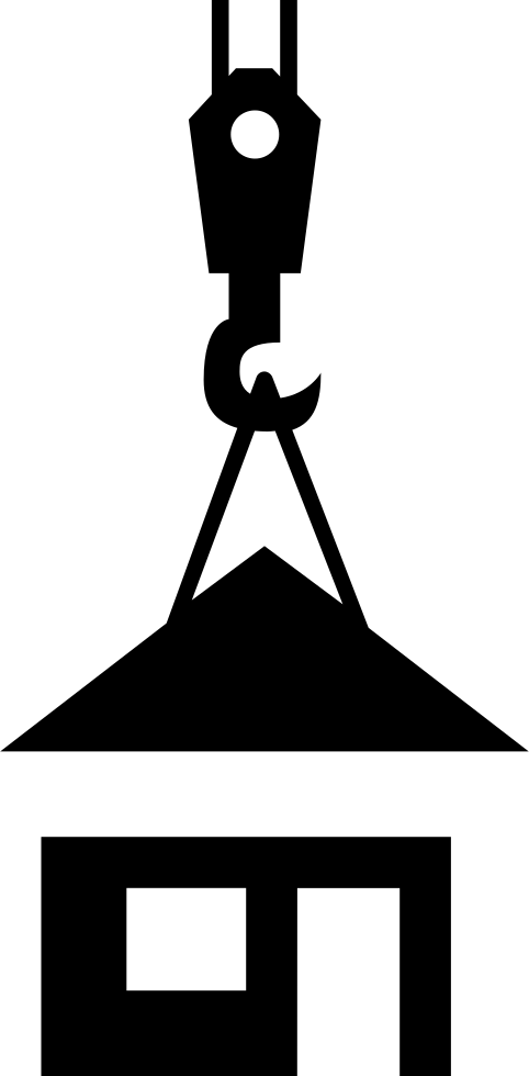 Roof Holding Of A Crane On Prefabricated House Svg Png