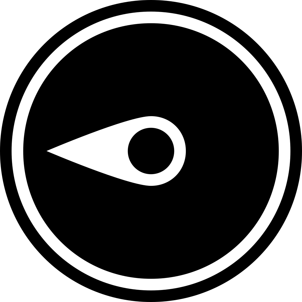 Compass Pointing West Black Circular Tool Symbol Of Weather