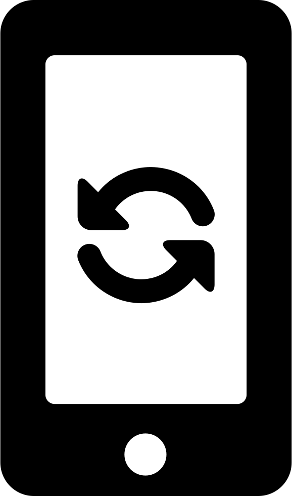 Refresh Circular Arrows Couple Symbol On Phone Screen Svg Png Icon