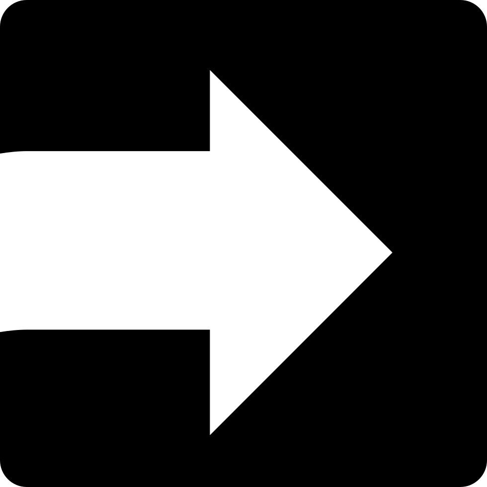 White Arrow Facing The Right Direction Inside A Square Svg ...