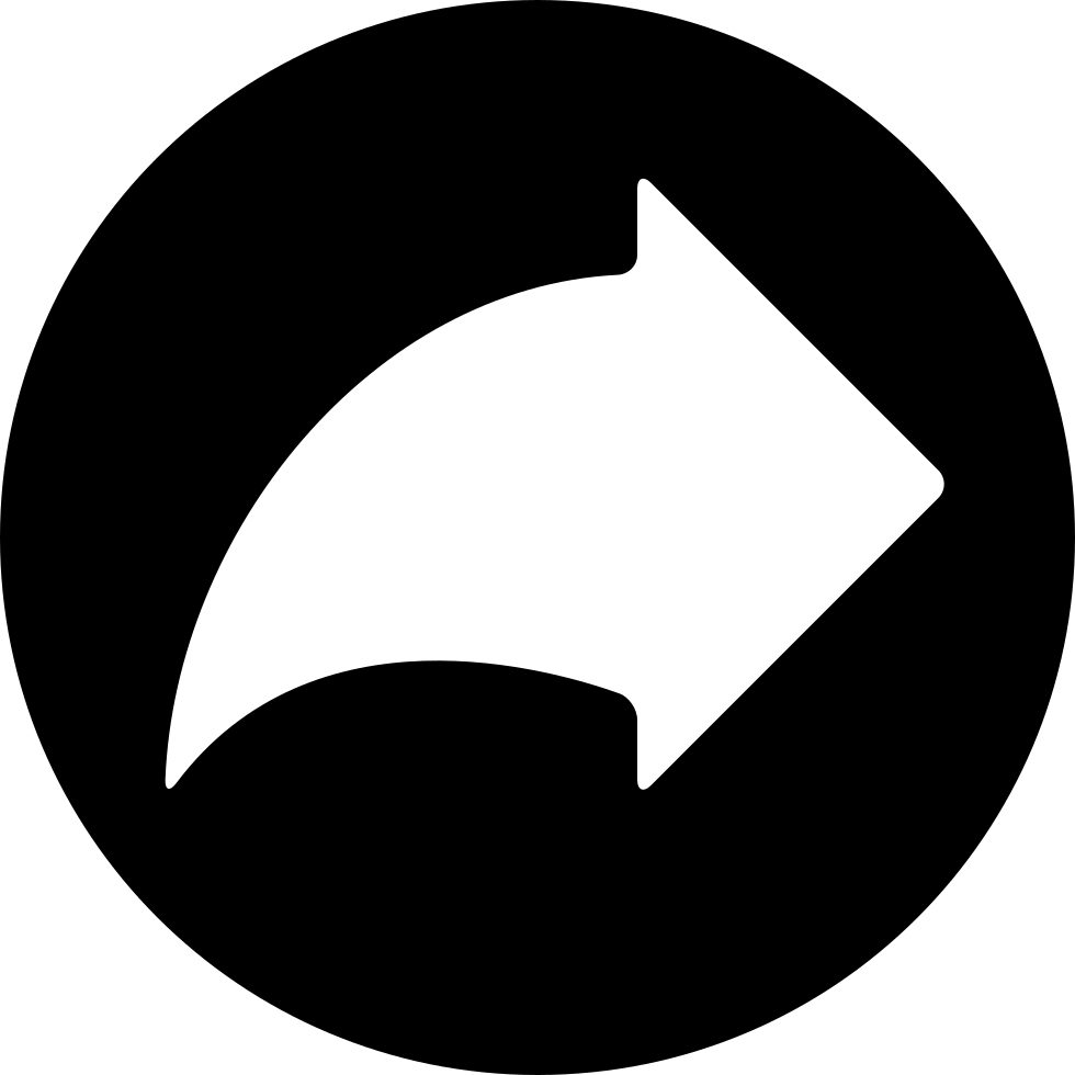 Right Curved Arrow In A Circle Svg Png Icon Free Download ...