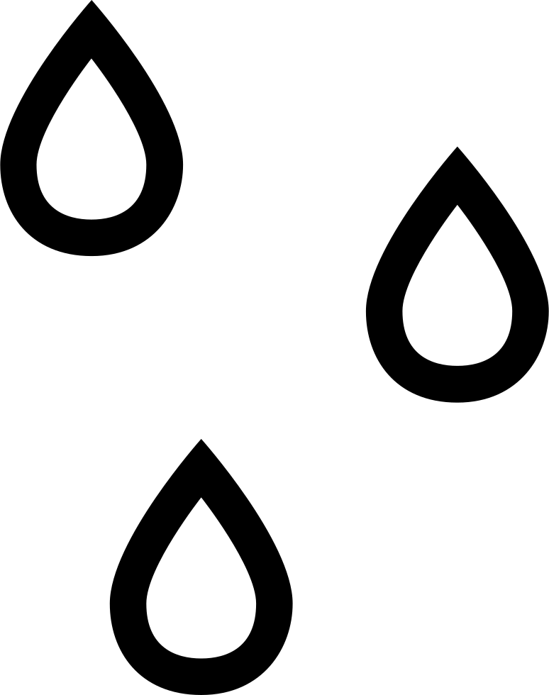 Raindrops Outlines Weather Symbol Of Water Drops Svg Png