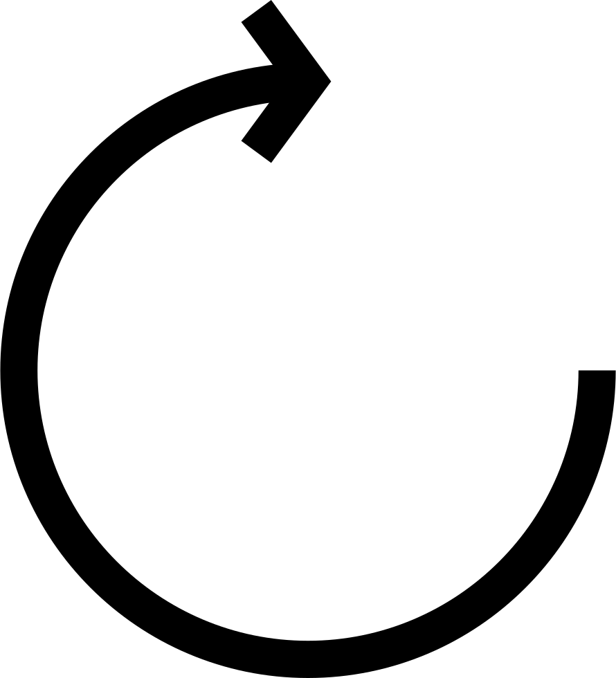 Circular Arrow With Clockwise Rotation Svg Png Icon Free Download