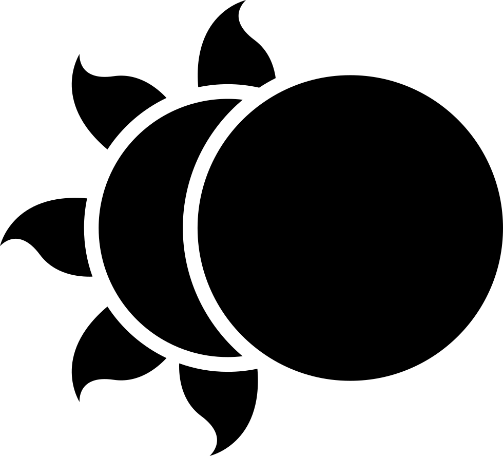 Moon Partially Covering The Sun Svg Png Icon Free Download