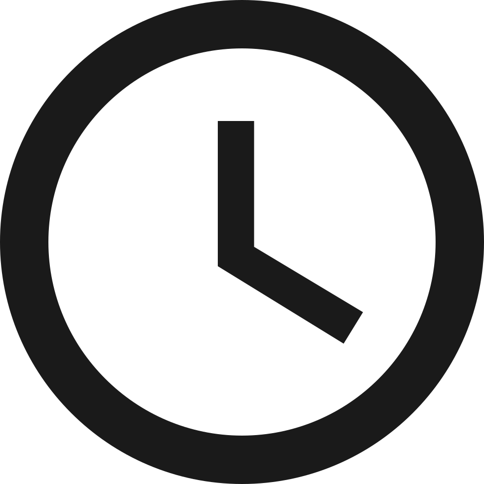 clock with white face svg png icon free download 7280