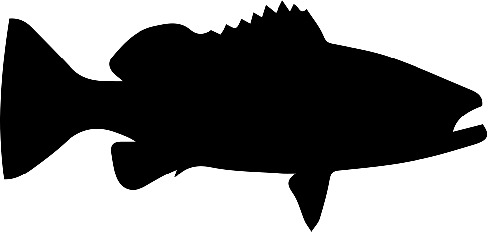Bass Fish Silhouette