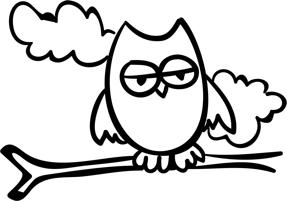 Halloween Night Owl On A Branch Svg Png Icon Free Download