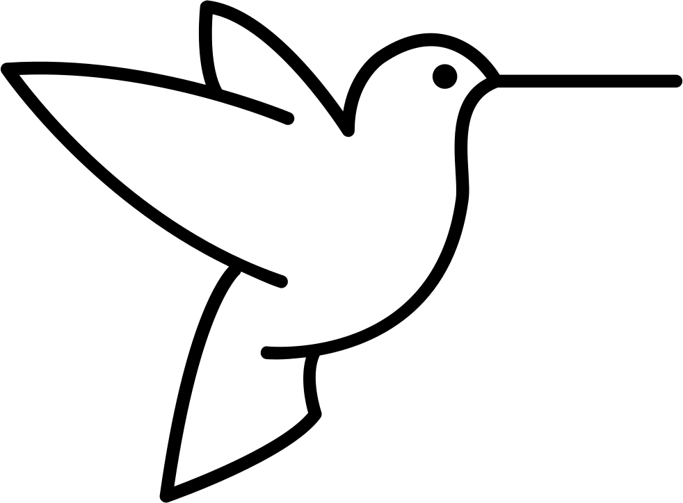 Humming Bird Outline From Side View Svg Png Icon Free Download