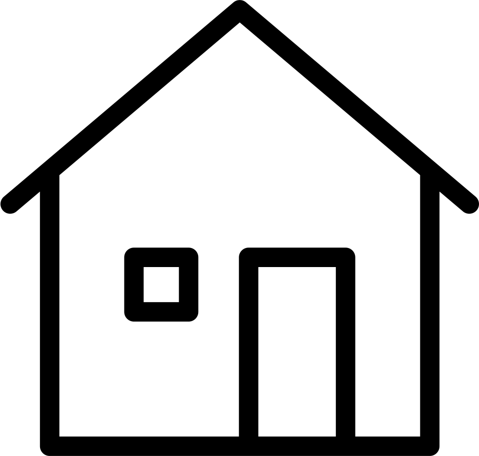 thin house home building svg png icon free download