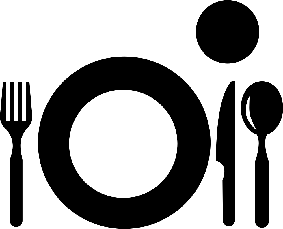 Plate With Cutlery And Glass From Top View Svg Png Icon