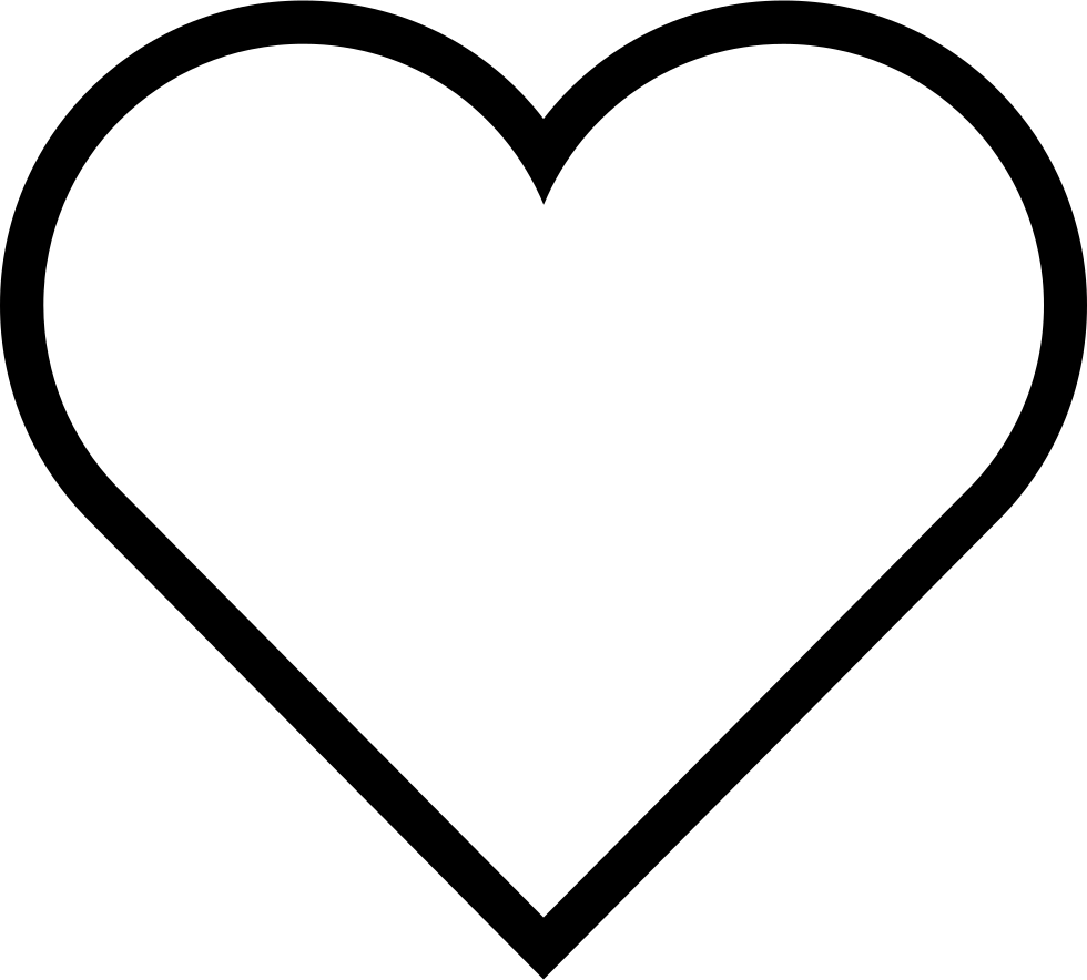It is a graphic of Clever Heart Outlines Printable