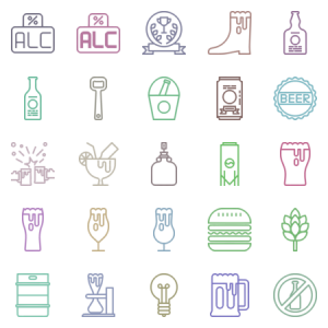 Craft Beer Pixel Perfect Modern Outline And Cle