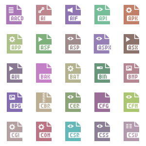Glyphicons Filetypes