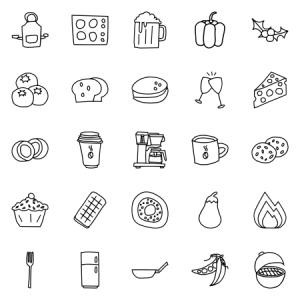 Food Doodle Lines Vol