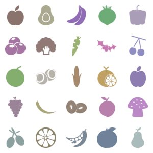 Fruits And Veggie Glyphs