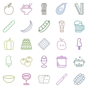 Smashicons Gastronomy Outline