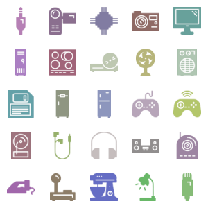 Consumer Electronics Glyph