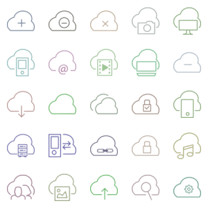 Clouds Website Simple Icon