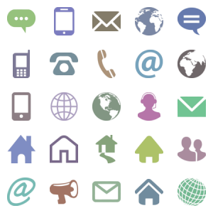 Website Contact Icon Set
