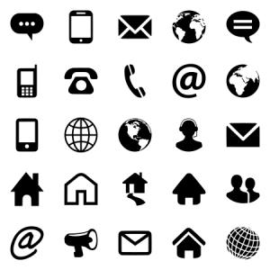 Website Contact Icon Set
