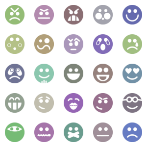Emoticons And Smileys Dark