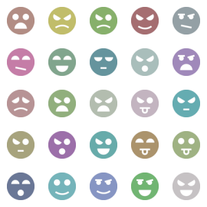 Emotion Faces  Glyph
