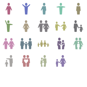 Family And People Glyph Icons