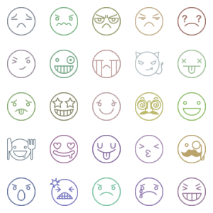 Line Emoticon Smiley