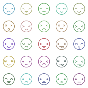 Rounded White Emoticon