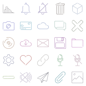 Miscellaneous Gapped Line Icons