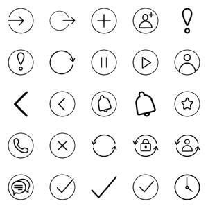 Light Ui Icon Set