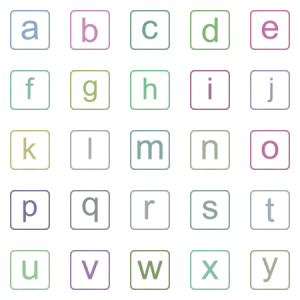 Modern Latin Alphabet Lowercase And Uppercase Lett