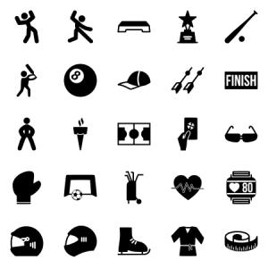 Fitness Sports Glyph