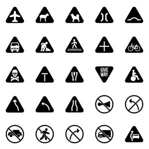 Traffic Signs Glyph