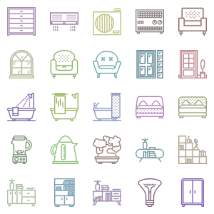 Smashicons Households Outline