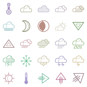 Linear Weather Icons