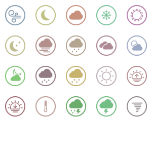 Rounded White Weather Icons